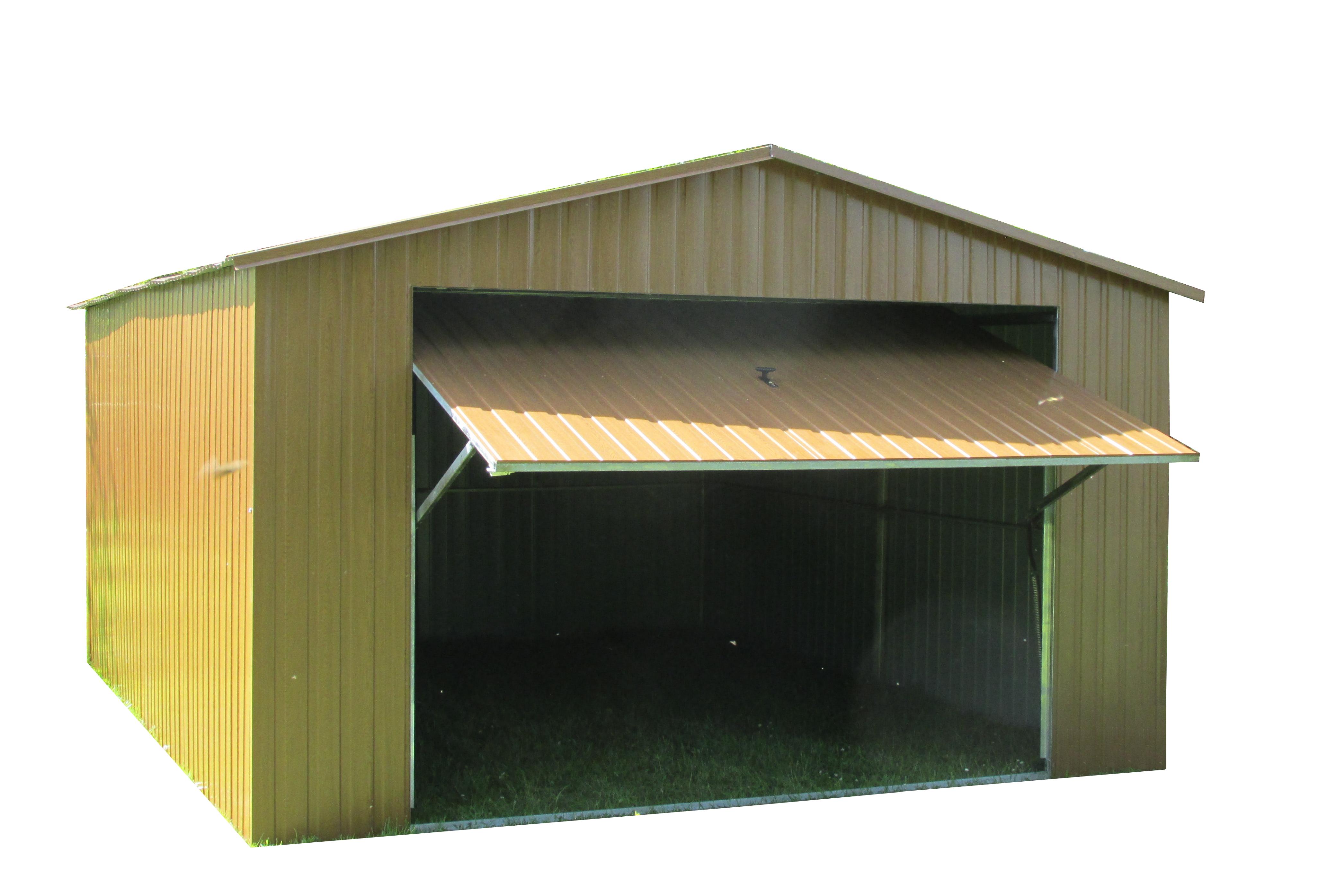 Garaż Akrylowy 4x5 Brama Złoty Dąb Dwuspad Produkty